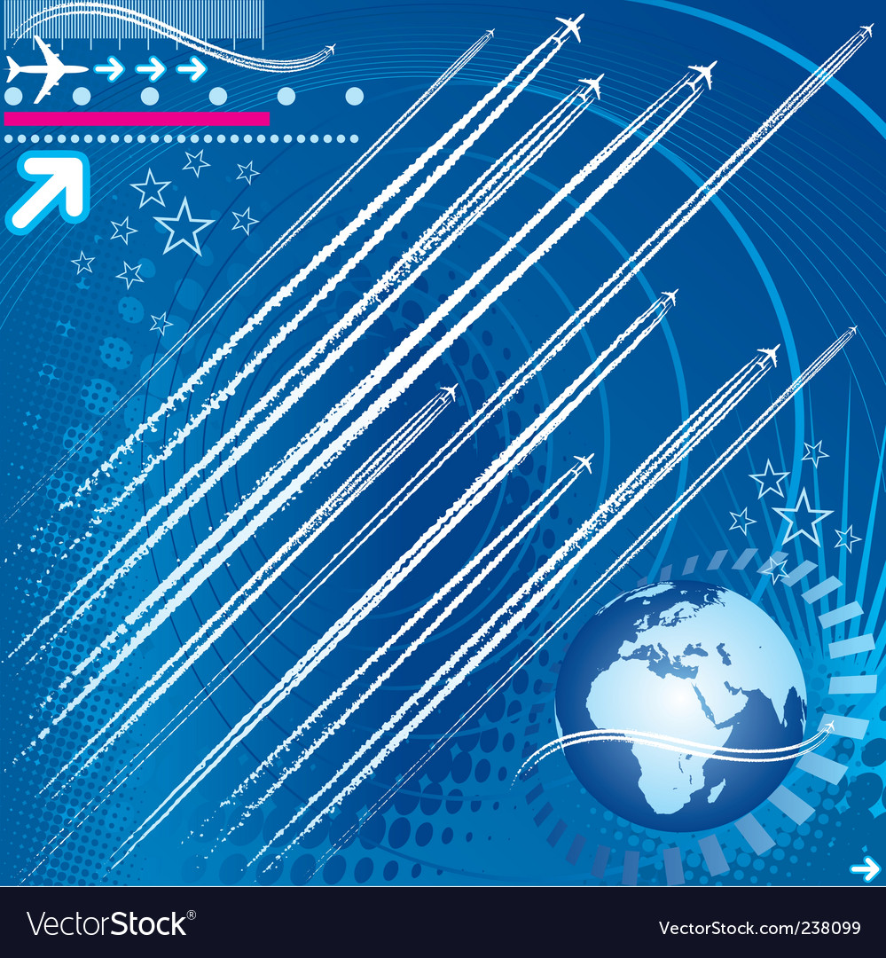 Design elements of jet trails vector | Price: 1 Credit (USD $1)