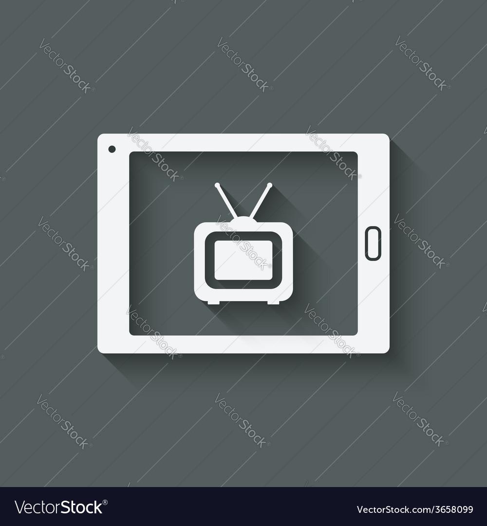 Online tv symbol vector | Price: 1 Credit (USD $1)