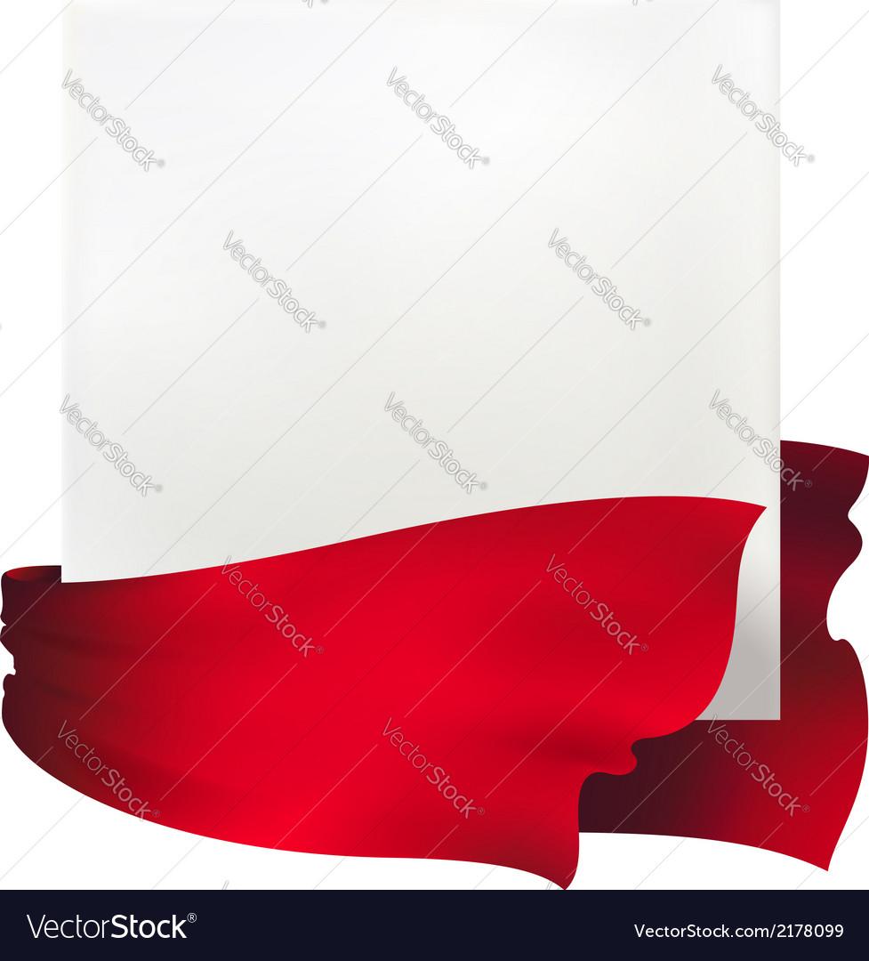 Red waving ribbon banner drawing vector   Price: 1 Credit (USD $1)