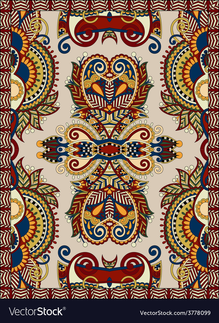 Ukrainian floral carpet design for print on canvas vector | Price: 1 Credit (USD $1)