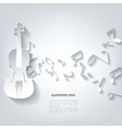 Violin icon music background vector