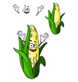 Happy corn on the cob with a big smile vector