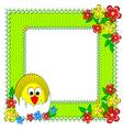 Chicken flowers vector