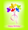 Happy birthday background with abstract bouquet vector