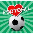 Love football theme on retro green background vector