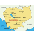 Kingdom of cambodia - map vector