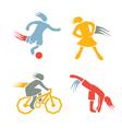 Active girls fitness sports set 3 vector