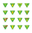 Icon set green triangles ecology vector