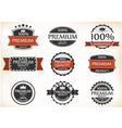 Premium quality and guarantee labels vector