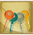 Set of house keys vector