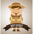 Boy scout design vector