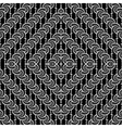 Design seamless monochrome interlaced pattern vector