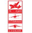 Military cargo planes vector