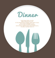 Food concept template vector