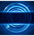Abstract 3d digital circles light background vector