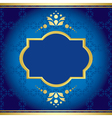 Blue elegant card with golden decor vector