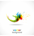 Color ink splash grunge background vector