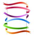 Bright web colorful stripes design collection vector