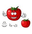 Ripe red happy tomato vegetable vector
