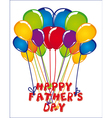 Sign of balloons fathers day vector