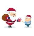 Santa claus and boy vector