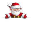 Happy santa empty label open hands vector