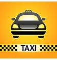 Taxi cab symbol on background pixel pattern vector