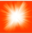Orange color burst vector
