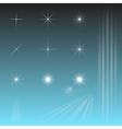Set sky star sun rays vector