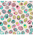Doodle easter background pattern vector