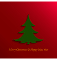 Christmas and new year tree vector
