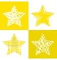 Set of hand drawn stars vector