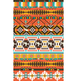 Aztecs seamless pattern on hot color with bird vector