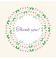 Postcard gratitude with romantic flowers and light vector