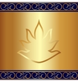 Abstract gold plate background with vignettes vector