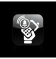 Phone alarm icon vector