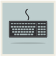Classic computer keyboard retro icon vector
