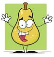 Happy yellow pear vector