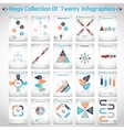 Mega collections of ten modern origami business vector