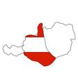 Austria hand signal vector
