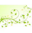 Plant background vector