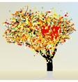Heart and love tree vector