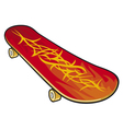 Red skateboard vector