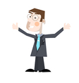 Business man isolated on white background vector