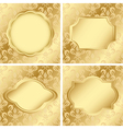 Set of cards with golden texture vector