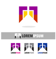 Abstract colorful logo icons template vector