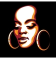 African woman face vector
