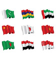 Asian flags vector
