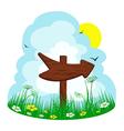 Wooden arrow vector