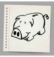 Scribble piggy bank vector